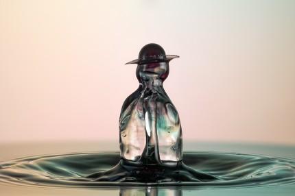 Goutte d'eau en macro
