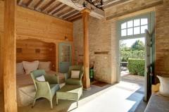 Chambre en rez-de-jardin - Stylisme : Patrice Taravella