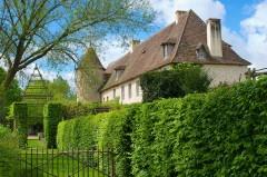 Hôtel de luxe dans un jardin médiéval