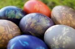 Œufs de pâques avec colorants naturels - Réalisation : Mathilde Rafin, véronique Tropin et Céline Lusseau